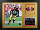 Patrick Willis Framed 8x10 San Francisco 49ers Photo (PW-P2B)