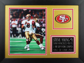 Steve Young Framed 8x10 San Francisco 49ers Photo (SY-P2B)