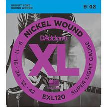 Daddario EXL120-3D 9-42 Electric Strings - 3 PACK