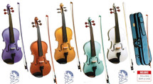 Stentor Harlequin Violin Series - 1/2 Size with Case & Bow