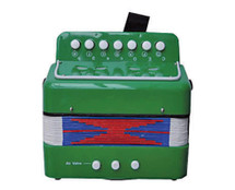 Junior Button Accordion - Red/Blue/Green