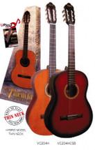 Valencia 200 Series Hybrid Classical Guitar - Slim Neck - Natural or Sunburst