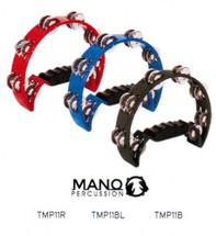 MANO Half Moon Tambourine - Black/Red/Blue