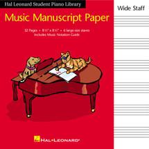 Hal Leonard Wide Stave Manuscript Book - 32 pages
