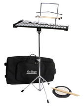 Glockenspiel Kit with Stand, Practice Pad, Mallets and Carry Bag