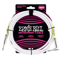 Ernie Ball Classic 10ft Guitar Cable - Black or White