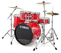 Yamaha Rydeen 5pc Rock Drum Kit - Hot Red with FREE DS550 STOOL!