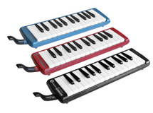 Hohner 32 Note Melodica in Hardcase - Red/Blue/Black