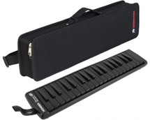 Hohner 37 Superforce 37 Black Melodica in Carry Case
