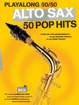 Playalong 50/50 Pop Hits - Alto Saxophone Book and Backing Track Download