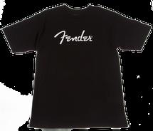 Fender Black/White Spaghetti Logo T Shirt
