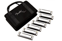 Fender 7 Piece Harmonica Set in Carry Case