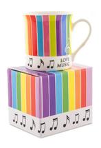 Stripes & Note Coffee Mug in Gift Box