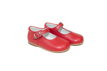 Little Girl Red Leather Mary Jane Shoes From Ben & Lola
