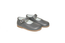 Little Girl Grey Leather Mary Jane Shoes From Ben & Lola