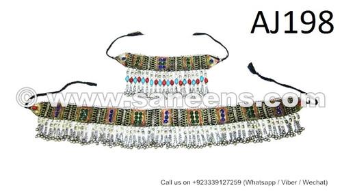 afghan kuchi belts and necklaces set