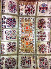 qazaq tribal fashion antique suzani piece
