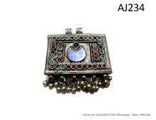 handmade tribal pendants, ats bellydance jewelry locket for belts necklaces costumes