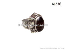 afghan kuchi handmade tribal rings with engrave work