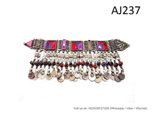 afghan kuchi handmade ornaments, tribal artwork vintage necklaces chokers