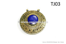 kuchi tribal jewellery pendants with lapis stone
