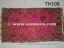 hand sewn tribal silk work pillow cushion from swat