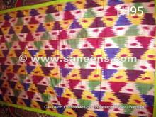 genuine silk ikat from uzbek tribes