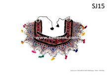 afghan kuchi tribal beads work belt
