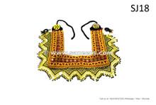 handmade kuchi tribal artwork belts made of beads