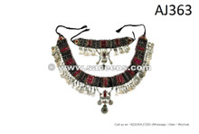 afghan kuchi tribal belts necklaces
