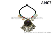 afghan kuchi tribal handmade necklaces chokers with domes