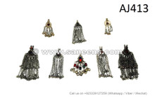 afghan kuchi tribal artwork pendants