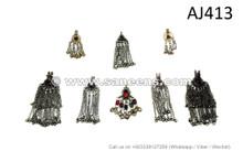 afghan kuchi tribal artwork pendants