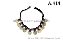 afghan kuchi tribal coins work necklaces