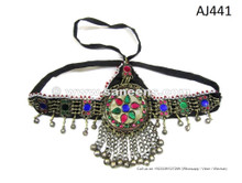 Afghan Women Head Band Cairo Bellydancers Headdress Kuchi Tribal Headdress