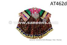 Asian Gypsies Women Vintage Frock Kuchi Banjara Dress Afghan Pashtun Costume
