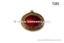 Gypsy Fashion Pendant Turkmen Tribal Locket Bellydance Handmade Jewelry