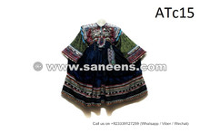Gypsy Fusion Ethnic Costume Beads And Coins Work Kuchi Dress In Blue Velvet