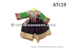 Afghan Dress In Velvet Tribal Silk Embroidered Vintage Apparel With Tassels Medallions