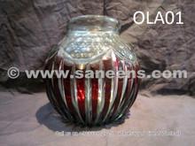 tribal artwork crystal vase