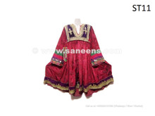 Nomad Style Ethnic Dress Tribal Fashion Vintage Frock Hand Embroidered Afghan Costume