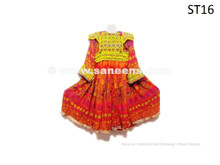 Traditional Afghan Women Dress Nomad Style Ethnic Frock With Beads Work