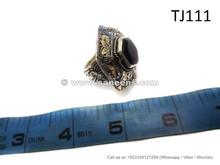 afghan muslim rings with black stone