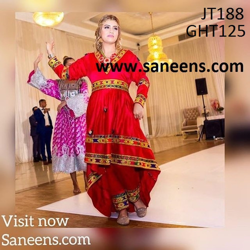 Dress in red color