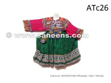balochi tribal ethnic frock with coins