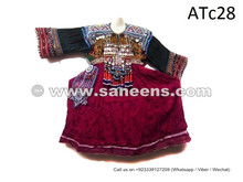 balochi tribal desert area clothing with coins work