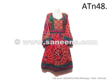 wholesale kuchi tribal new frocks with floral tapestry