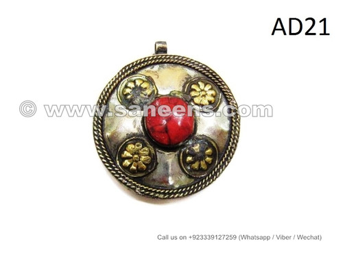 Kuchi pendants tribal artwork turkman lockets balochi fashion coral kuchi jewellery pendants with coral stones aloadofball Gallery
