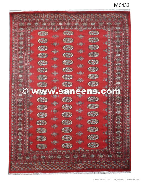 Traditional Persian Artwork Bokhara Rug Handmade Pakistan