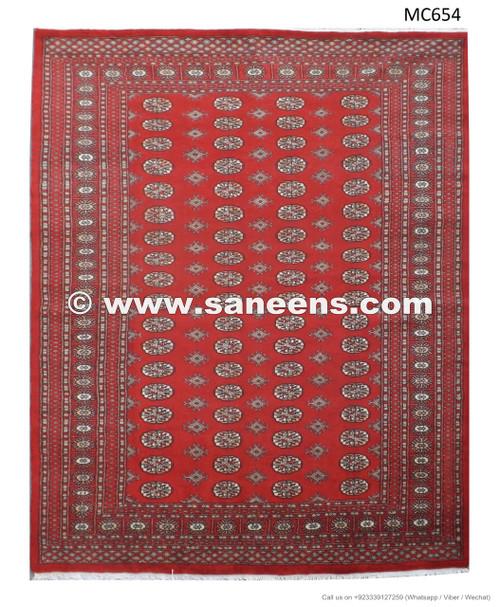 Pakistan Mori Bokhara Rug In Red: Pakistan Pashtun Artisan Handmade Bokhara Rug